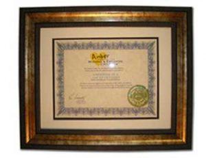 Certificate of Appreciation - 2009